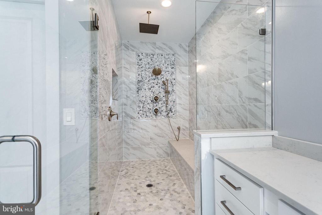 Master Bathroom (Rainfall Marble Shower) - 7411 NIGH RD, FALLS CHURCH