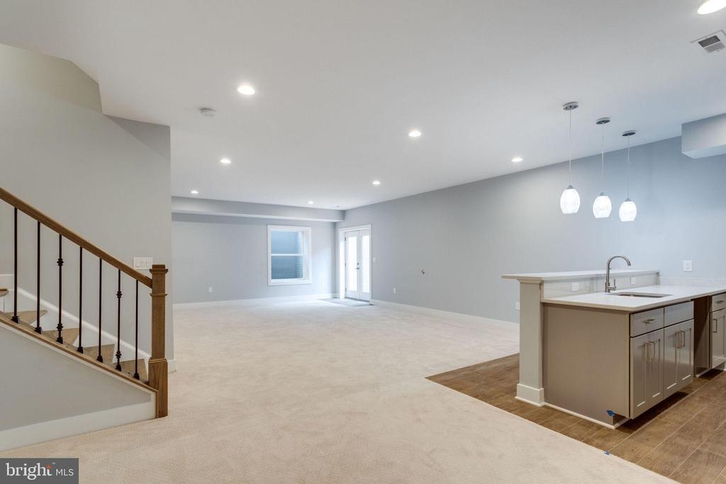 Wall-to-wall carpeted Basement - 7411 NIGH RD, FALLS CHURCH