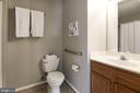 Master bath with tub - 631 CONSTELLATION SQ SE #A, LEESBURG