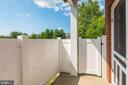 Lovely patio - 631 CONSTELLATION SQ SE #A, LEESBURG