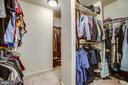 Owners walk in closet - 9101 SNOWY EGRET CT, SPOTSYLVANIA