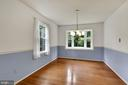 Dining room with lots of natural light - 5038 DEQUINCEY DR, FAIRFAX