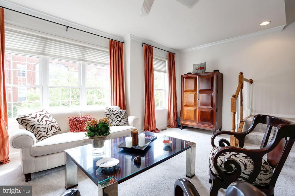 Large Bright Windows in Living Room - 12197 CHANCERY STATION CIR, RESTON
