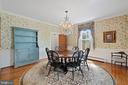 Formal Dining Room w/ Stunning Chandelier - 301 W ASHER ST, CULPEPER