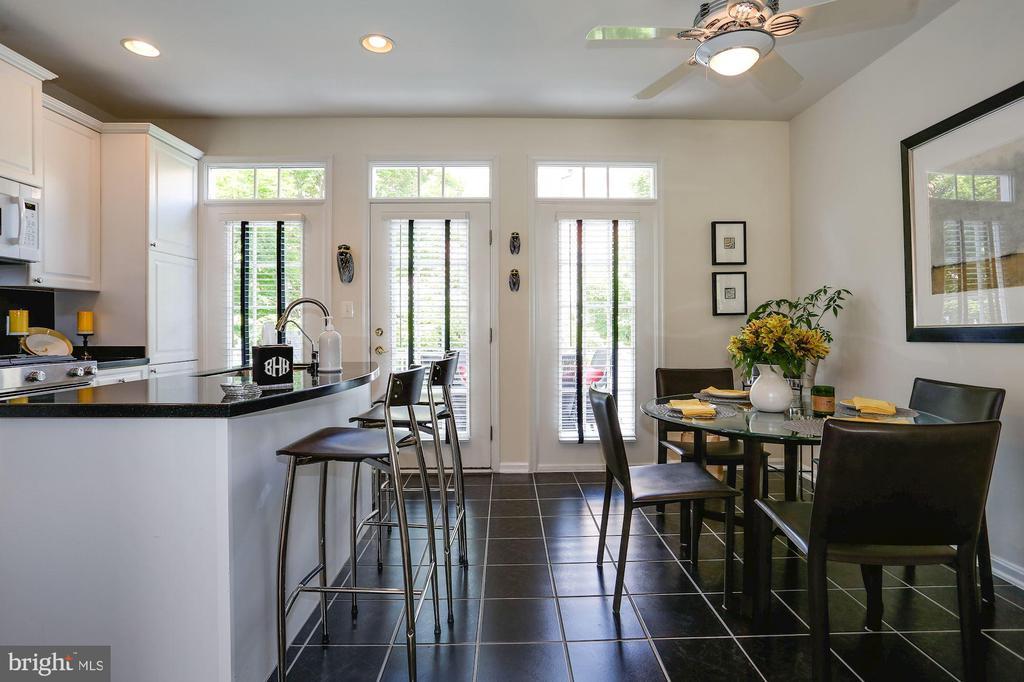 Kitchen-Breakfast Area - 12197 CHANCERY STATION CIR, RESTON