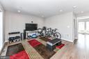 4th level home gym (rough in for wet bar) - 603 SLADE CT, ALEXANDRIA