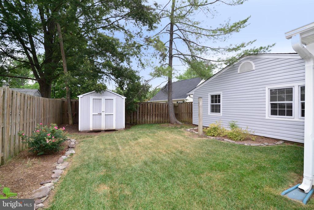 Back yard shed - 4224 MAYLOCK LN, FAIRFAX