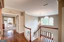 Second level open foyer - 9318 LUDGATE DR, ALEXANDRIA