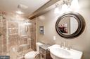 Lower level marble full bath - 9318 LUDGATE DR, ALEXANDRIA