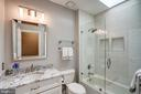 Beautifully renovated guest bath - 9318 LUDGATE DR, ALEXANDRIA