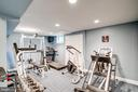 Exercise room or home office - 9318 LUDGATE DR, ALEXANDRIA