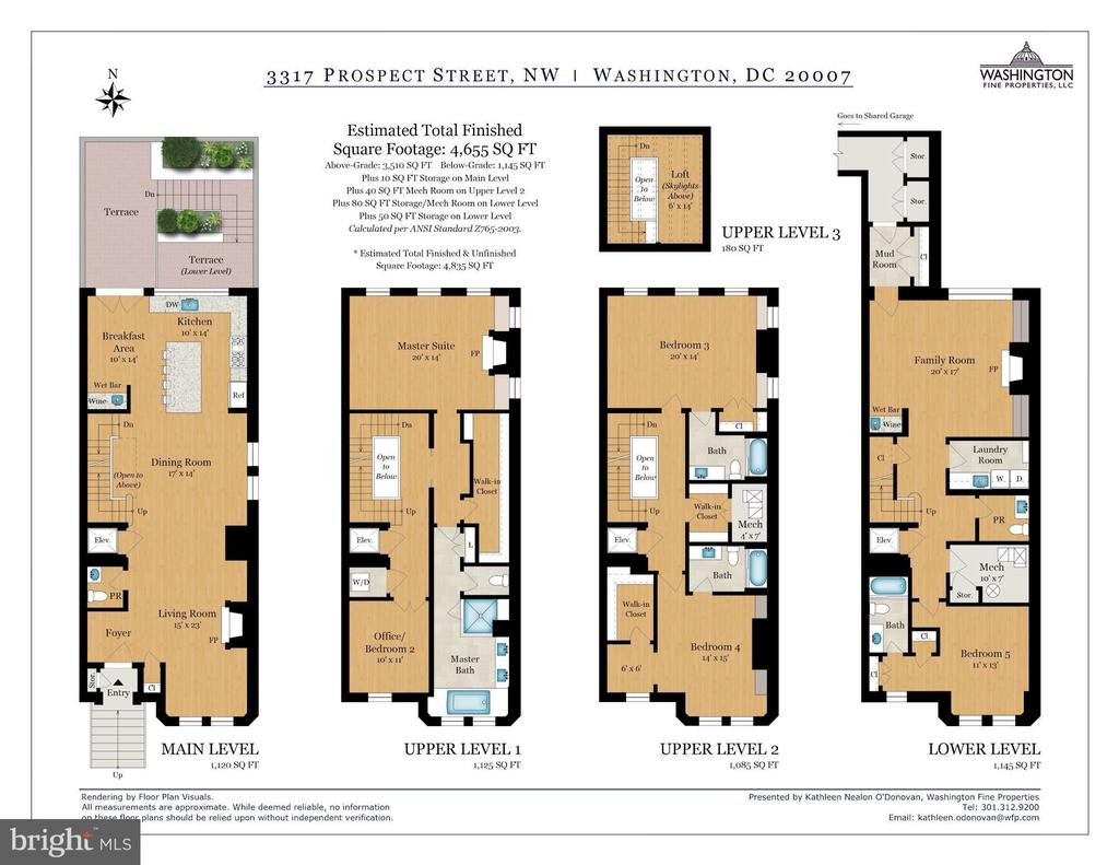 Floor Plans - 3317 PROSPECT ST NW, WASHINGTON