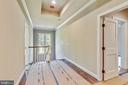 Coffered ceiling and hardwood in upper hallway - 9524 LEEMAY ST, VIENNA