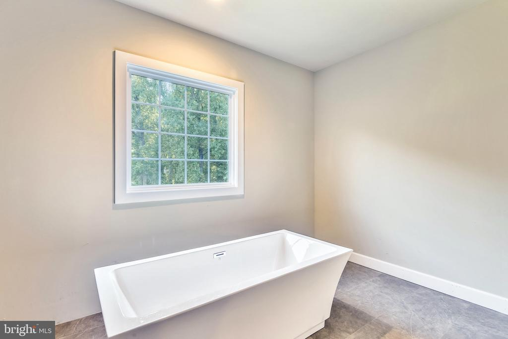 A bathtub with a view in the owner's suite - 9524 LEEMAY ST, VIENNA