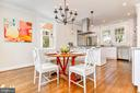 Stunning, open white kitchen - 4401 GARRISON ST NW, WASHINGTON