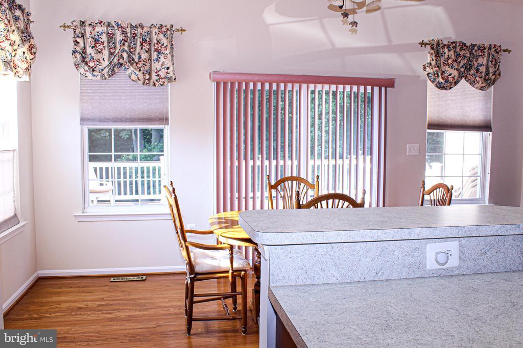 breakfast room w/custom window treatments - 3220 LACROSSE CT, DUNKIRK