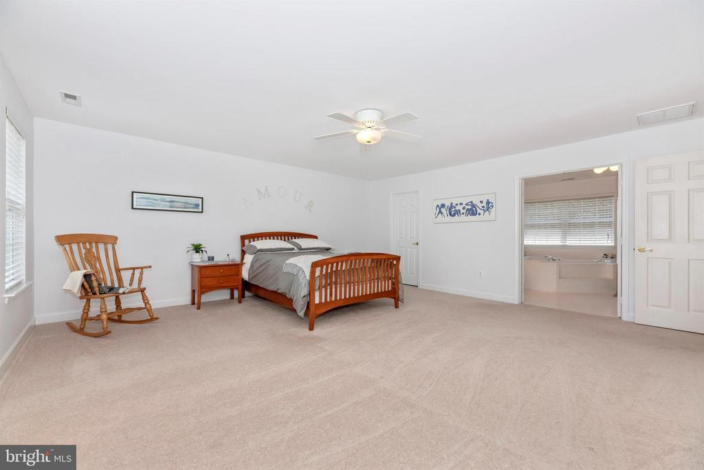 Large master bedroom suite with full bath. - 5835 RIVER OAKS CT, FREDERICK