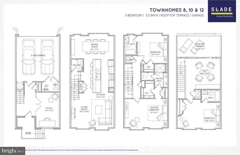 Floor Plan - 603 SLADE CT, ALEXANDRIA
