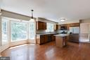 Kitchen with table space and bay window! - 15138 HOLLEYSIDE DR, DUMFRIES