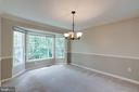 Bay window in dining room! - 15138 HOLLEYSIDE DR, DUMFRIES