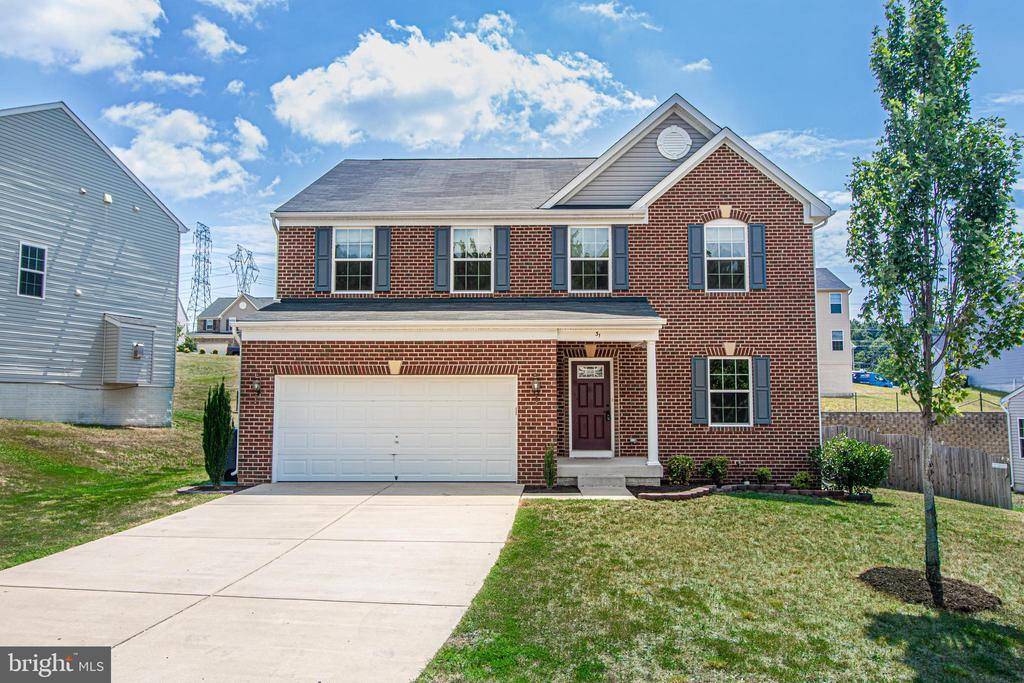 Brick Front Colonial with Concrete Driveway - 31 RUNYON DR, STAFFORD