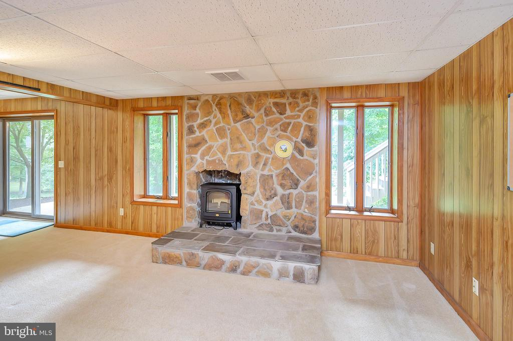Second Fireplace in Recreation Room - 109 INDIAN HILLS RD, LOCUST GROVE