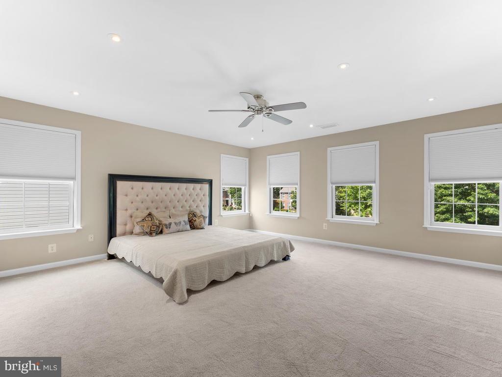 mstr bedroom, carpet, room darkening shades. - 358 SUGARLAND MEADOW DR, HERNDON