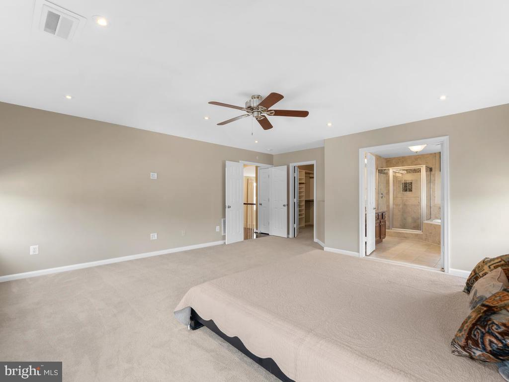 Double doors to bath, double entry doors,  walk-in - 358 SUGARLAND MEADOW DR, HERNDON