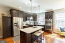 Island / kitchen - 1011 N KENSINGTON ST, ARLINGTON