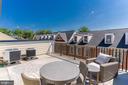 Upper, outdoor terrace - 1011 N KENSINGTON ST, ARLINGTON
