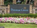 Potomac Green Community Sign, close up. - 44315 STABLEFORD SQ, ASHBURN