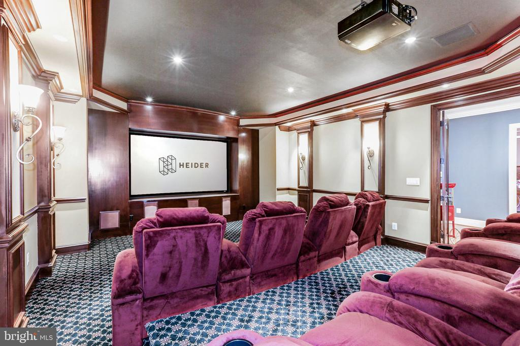 Expansive Home Theatre for the Whole Family - 8334 ALVORD ST, MCLEAN