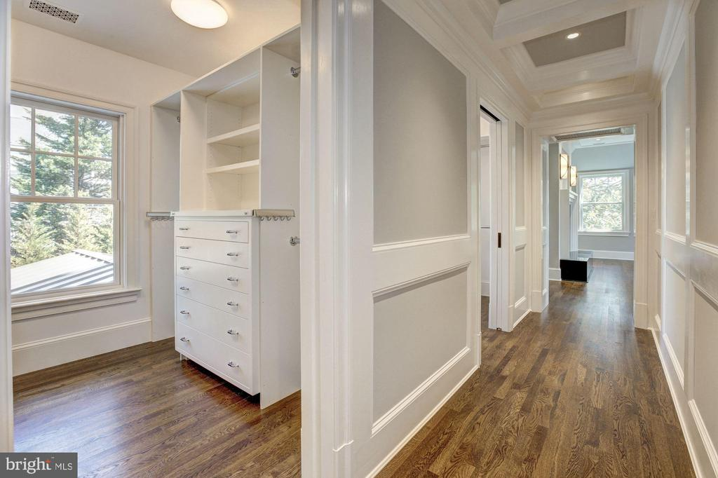 Master closets - 5205 LAWN WAY, CHEVY CHASE