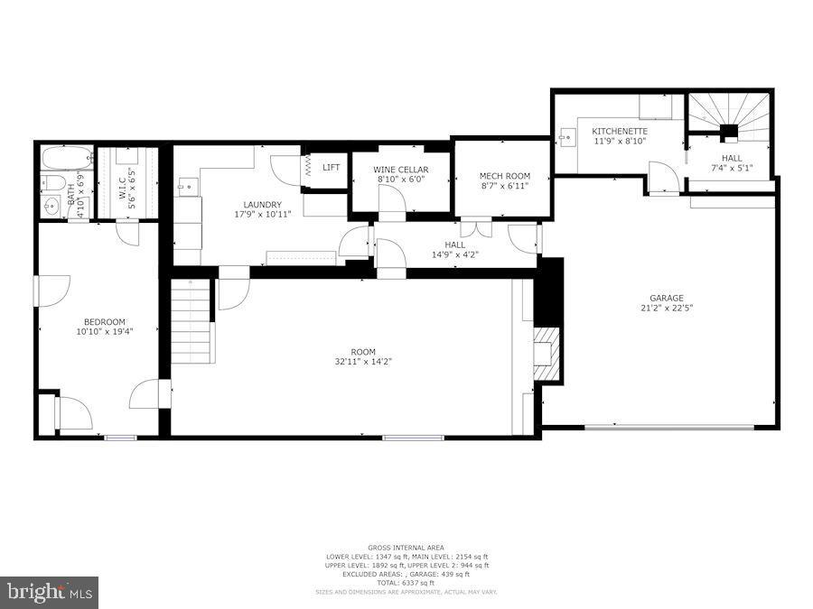 Lower level - 5205 LAWN WAY, CHEVY CHASE