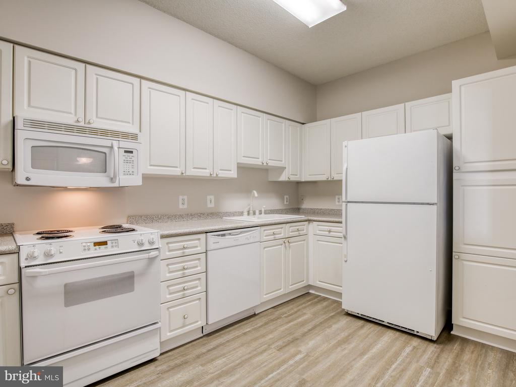 Spacious kitchen with new flooring - 19375 CYPRESS RIDGE TER #804, LEESBURG