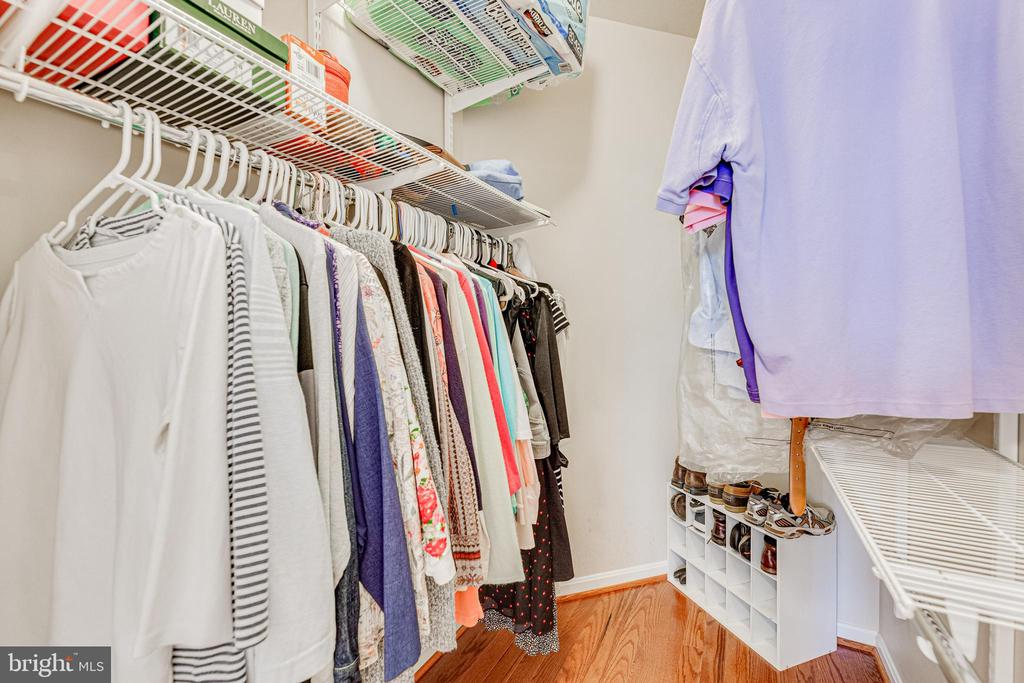 Good sized Master closet - 9480 VIRGINIA CENTER BLVD #117, VIENNA