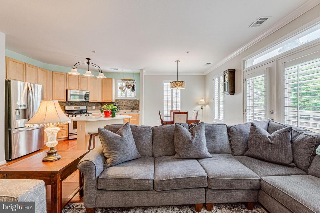 Big comfy living room. Open layout with KIT/DR - 9480 VIRGINIA CENTER BLVD #117, VIENNA