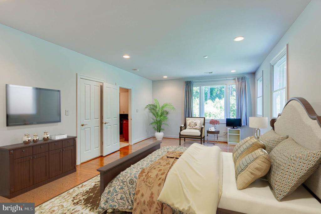 Virtually Staged   Lower Level Bedroom - 9600 THISTLE RIDGE LN, VIENNA