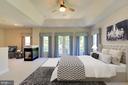 Virtually Staged Master Bedroom - 9600 THISTLE RIDGE LN, VIENNA