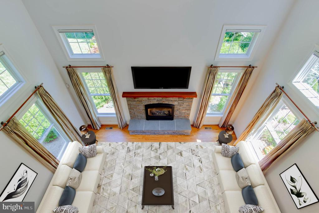 Virtually Staged  Family Room View  from Upstairs - 9600 THISTLE RIDGE LN, VIENNA
