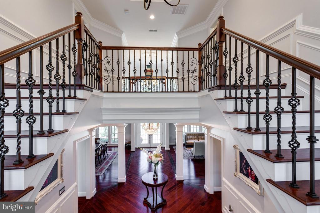 View from Landing on Grand Staircase. - 2508 COULTER LN, OAKTON