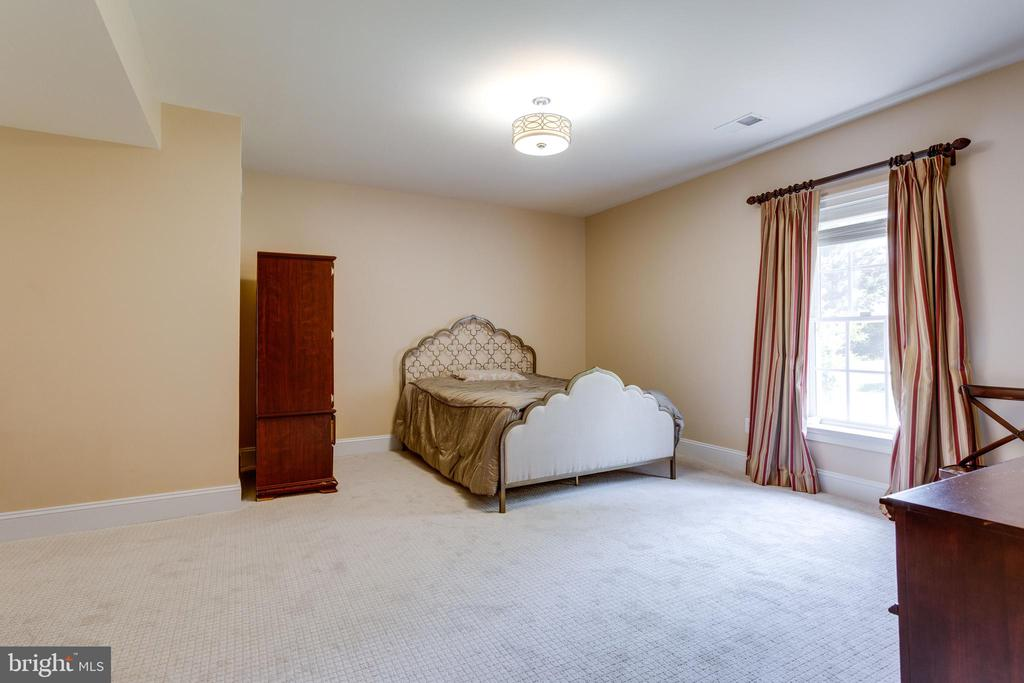 1 of 2 Lower Level Bedrooms. with Adjacent Bath. - 2508 COULTER LN, OAKTON