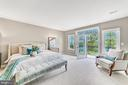 Luxury master suite with private balcony - 18382 FAIRWAY OAKS SQ, LEESBURG