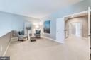 Private master sitting room overlooks family room - 18382 FAIRWAY OAKS SQ, LEESBURG