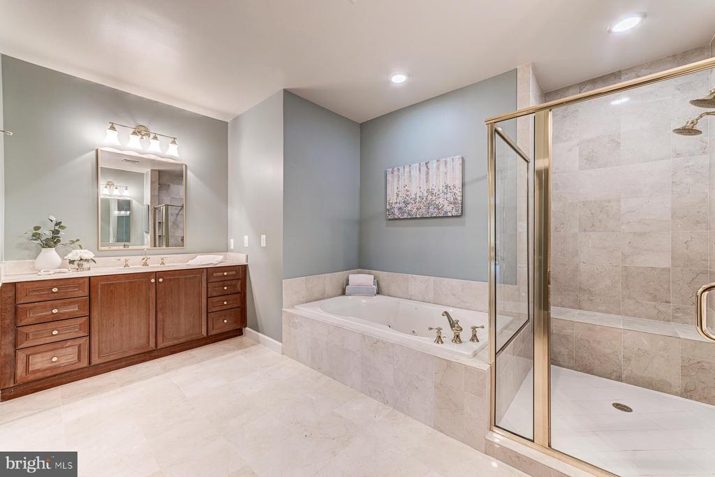 Spa-like master bath - 18382 FAIRWAY OAKS SQ, LEESBURG