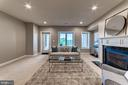 Lower level rec room with fireplace - 18382 FAIRWAY OAKS SQ, LEESBURG