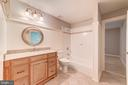 Upper level Second bathroom - 7395 BEECHWOOD DR, SPRINGFIELD