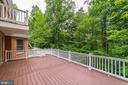 Outdoor entertaining deck - 7395 BEECHWOOD DR, SPRINGFIELD