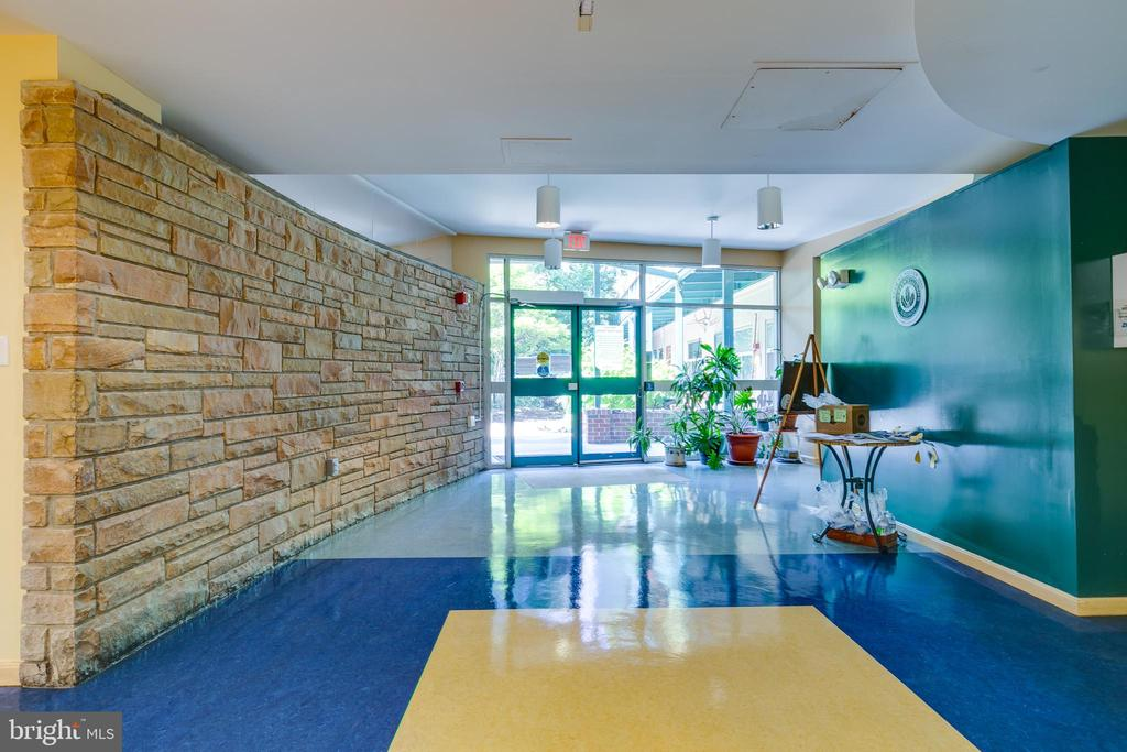 Bright EVC foyer. - 7981 EASTERN AVE #202, SILVER SPRING