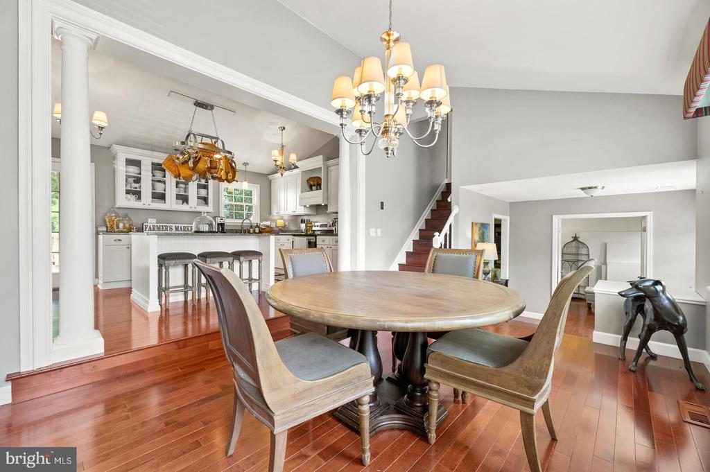 Open dining area or can double as a family room - 12 DUDLEY CT, STERLING